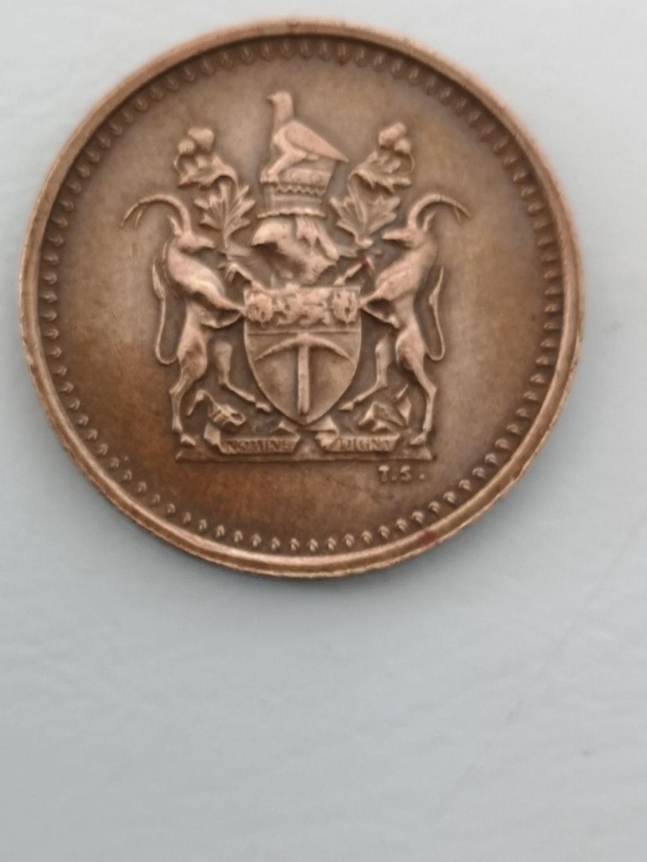 1 céntimo Rhodesia 1970 15979111