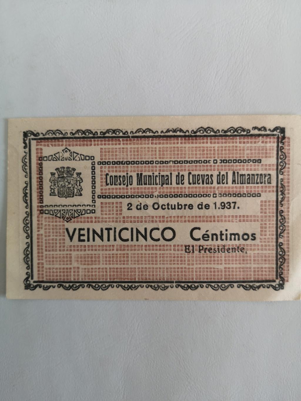 25 céntimos Cuevas de Almanzora  16066410