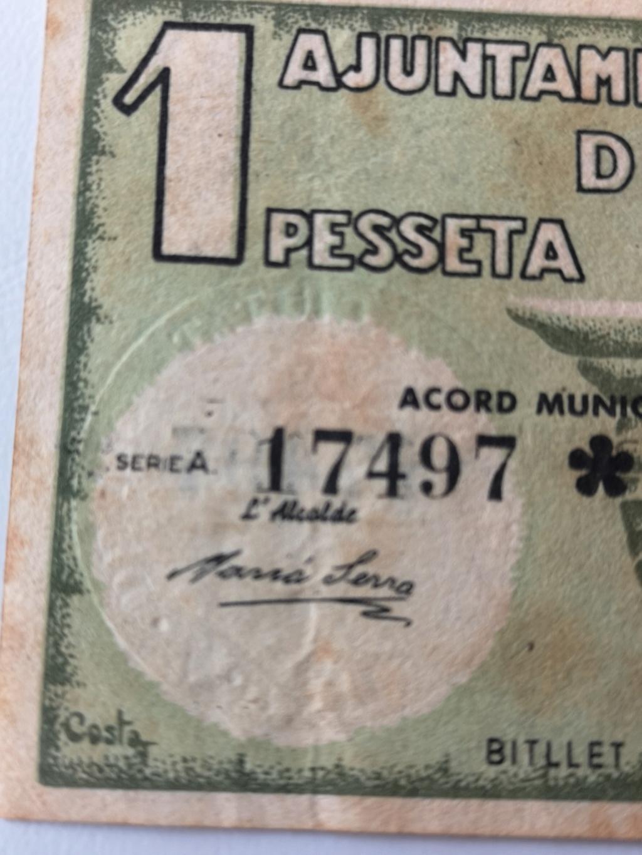 1 Peseta Vic 1937 16110511