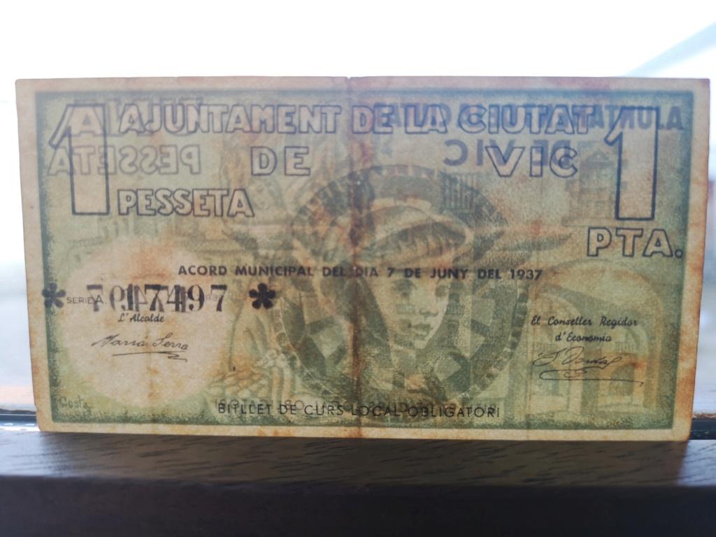 1 Peseta Vic 1937 16112112
