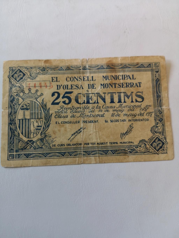 25 cèntims Olesa de Montserrat, 1937 16166810