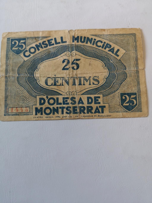 25 cèntims Olesa de Montserrat, 1937 16166811