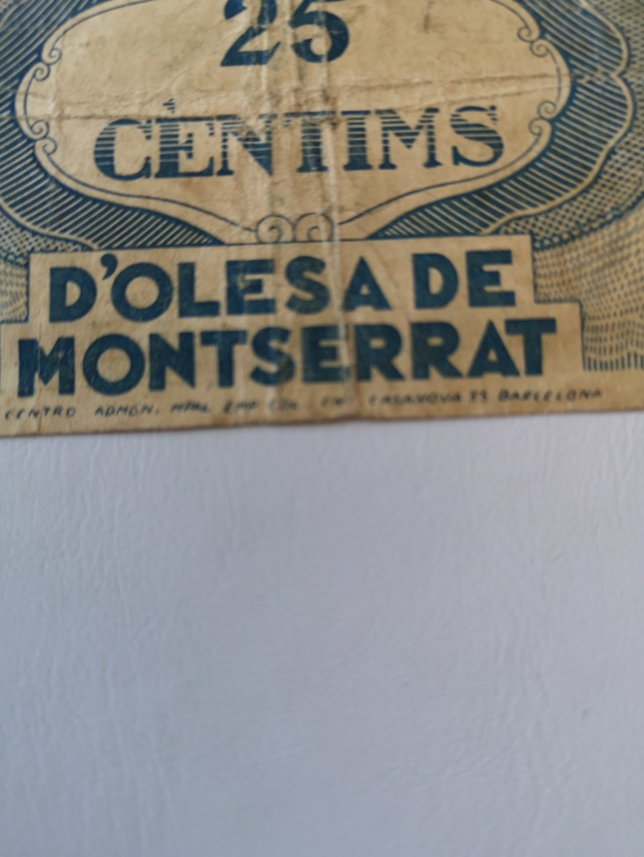 25 cèntims Olesa de Montserrat, 1937 16166812