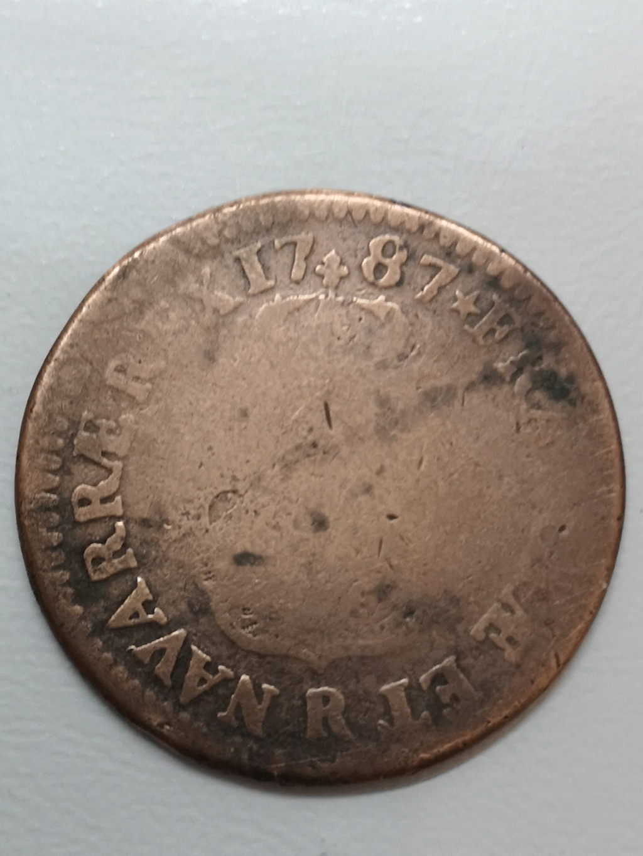 Francia 1787 1 Sol de Luís XVI  16173511