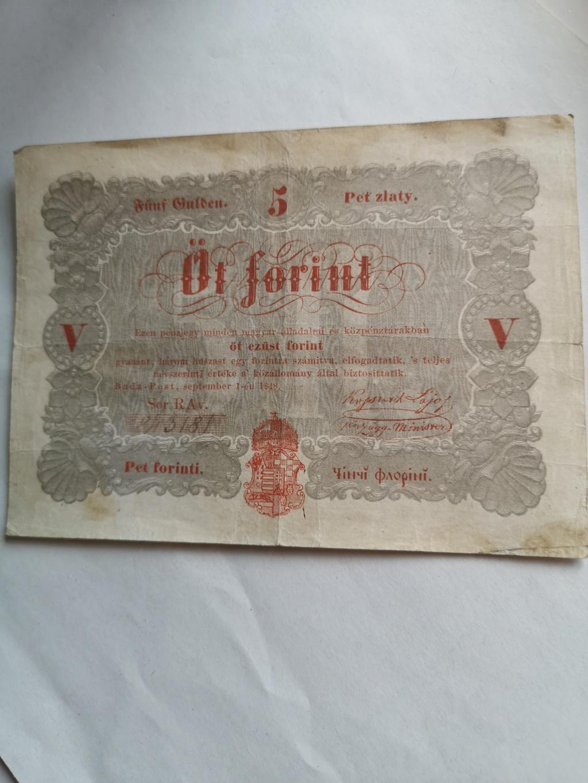 5 florines Hungría 1848 16233412