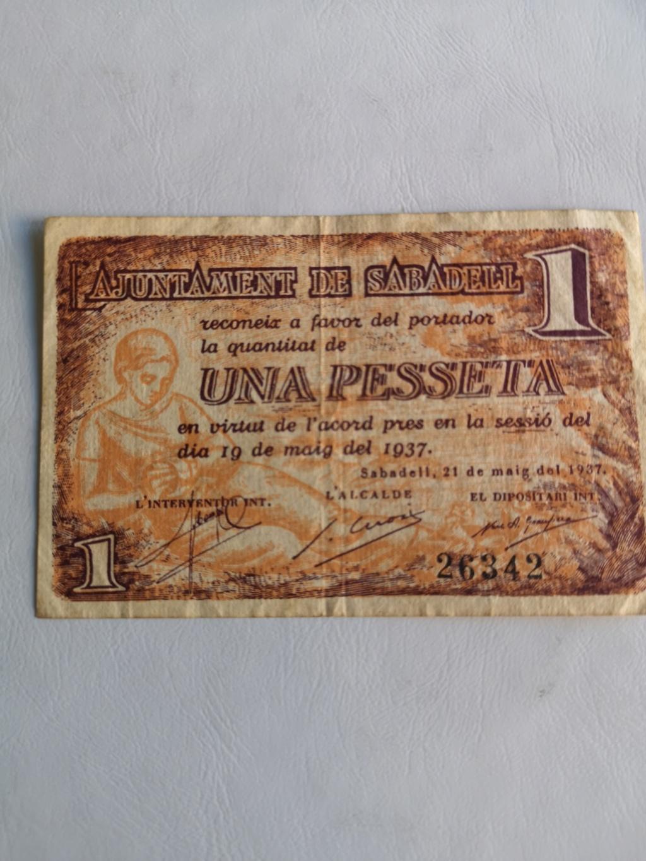 Sabadell 1 peseta 1937  16242610