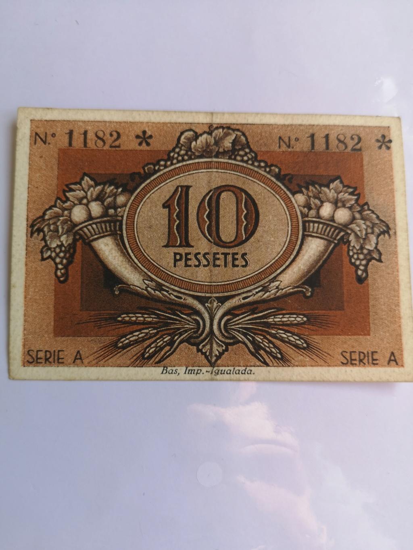 10 pesetas Unió Cooperadors Igualada, 1938 16339411