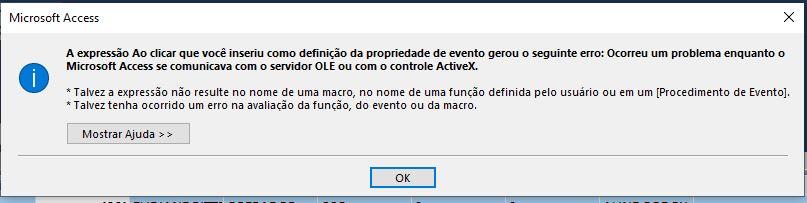 Problema - Servidor OLE ou controle ActiveX Forum112
