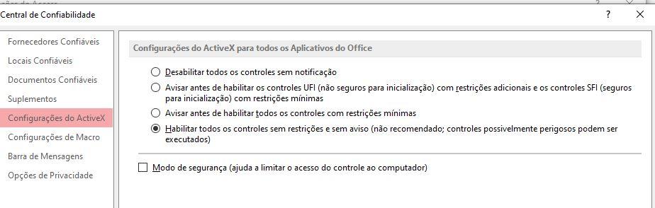 Problema - Servidor OLE ou controle ActiveX Forum210