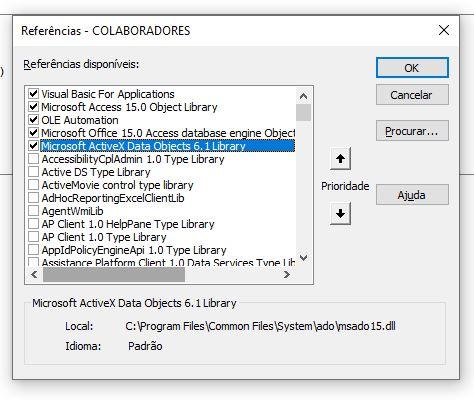 Problema - Servidor OLE ou controle ActiveX Forum310