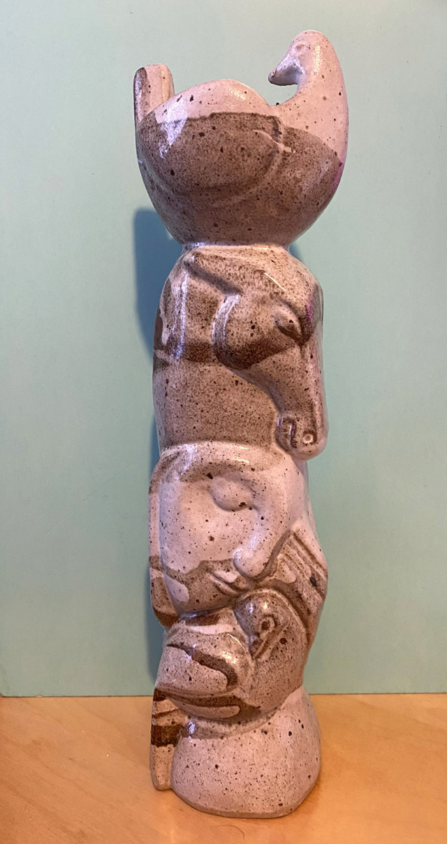 Moulded Candle holder/vase totem pole - AM mark - Martha Allen  Cerami12