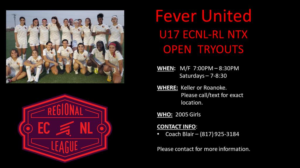 Fever United U17 ECNL RL-NTX Tryouts Fever_11
