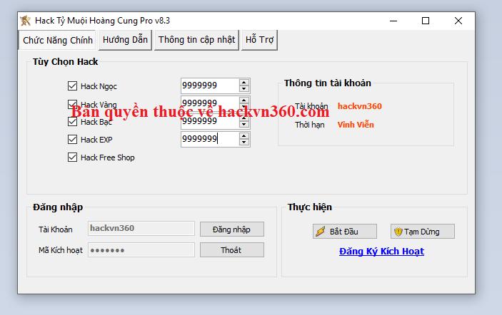 Hack Tỷ Muội Hoàng Cung miễn phí Tymuoi10