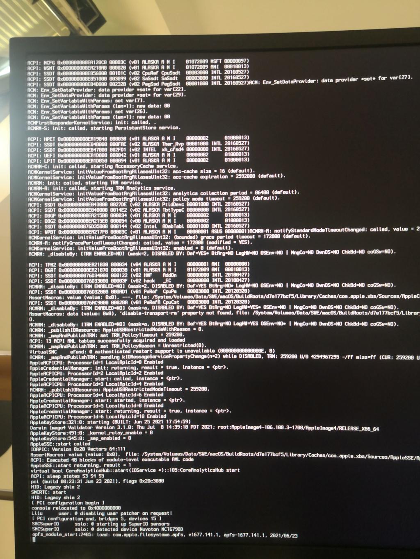 Probléme installation Big Sur (i5-9600KF   Asus TUF Z390-plus gaming   RTX 2070) Img_2010