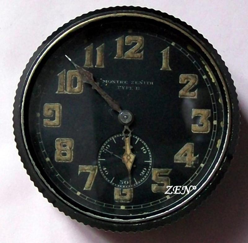 Démontage de la montre militaire Zenith Type B  Cadran12