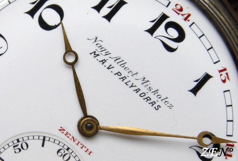 La montre Zenith de la compagnie des Chemins de fer Hongrois  Chemin16