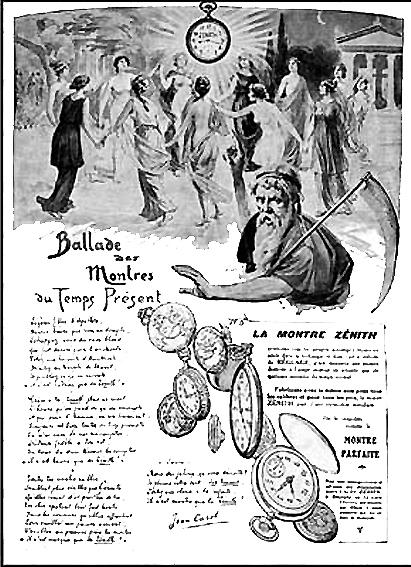 La saga Zenith - La manufacture Zenith à travers le temps - 150 ans d'histoire  - Page 2 Pub_1910