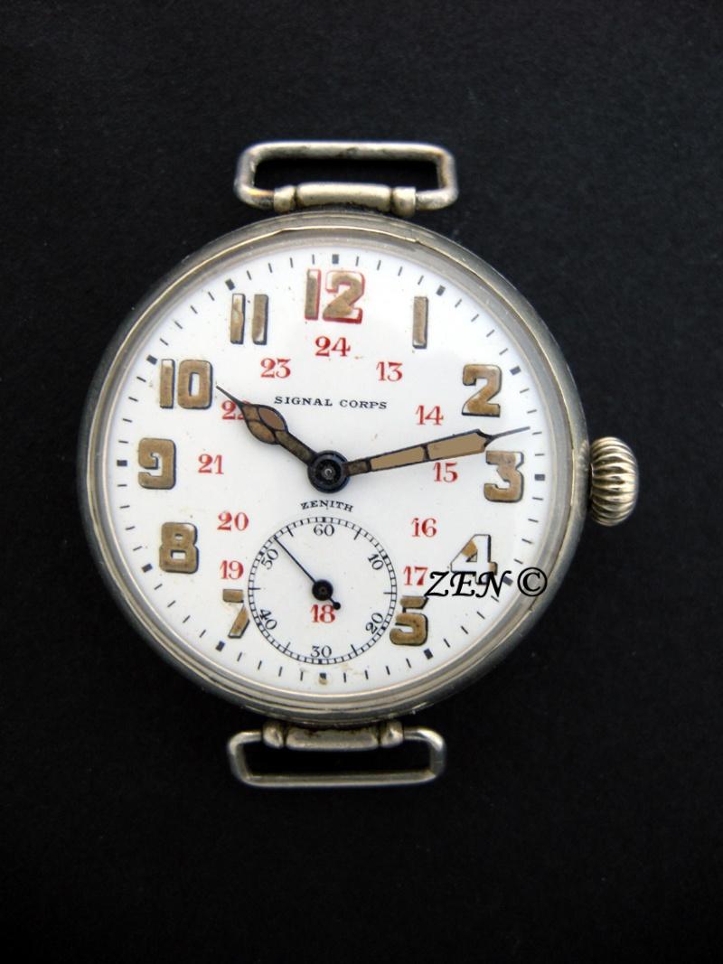 Zenith et les poilus ... Les toutes premières montres bracelets de Zenith Signal10