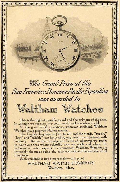 L'histoire des manufactures américaines ...A la conquête de l'Ouest Horloger Waltha20