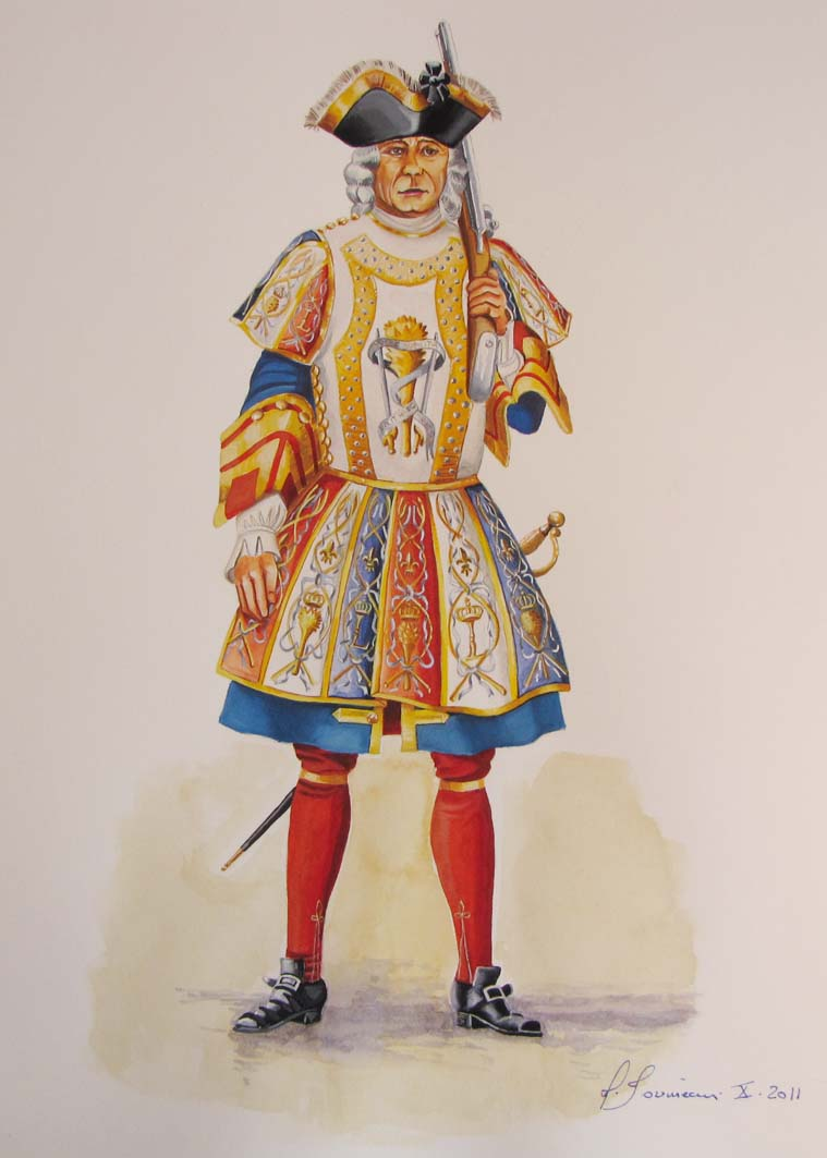 Garde de la prévôté de l' hôtel du roi Garde_12