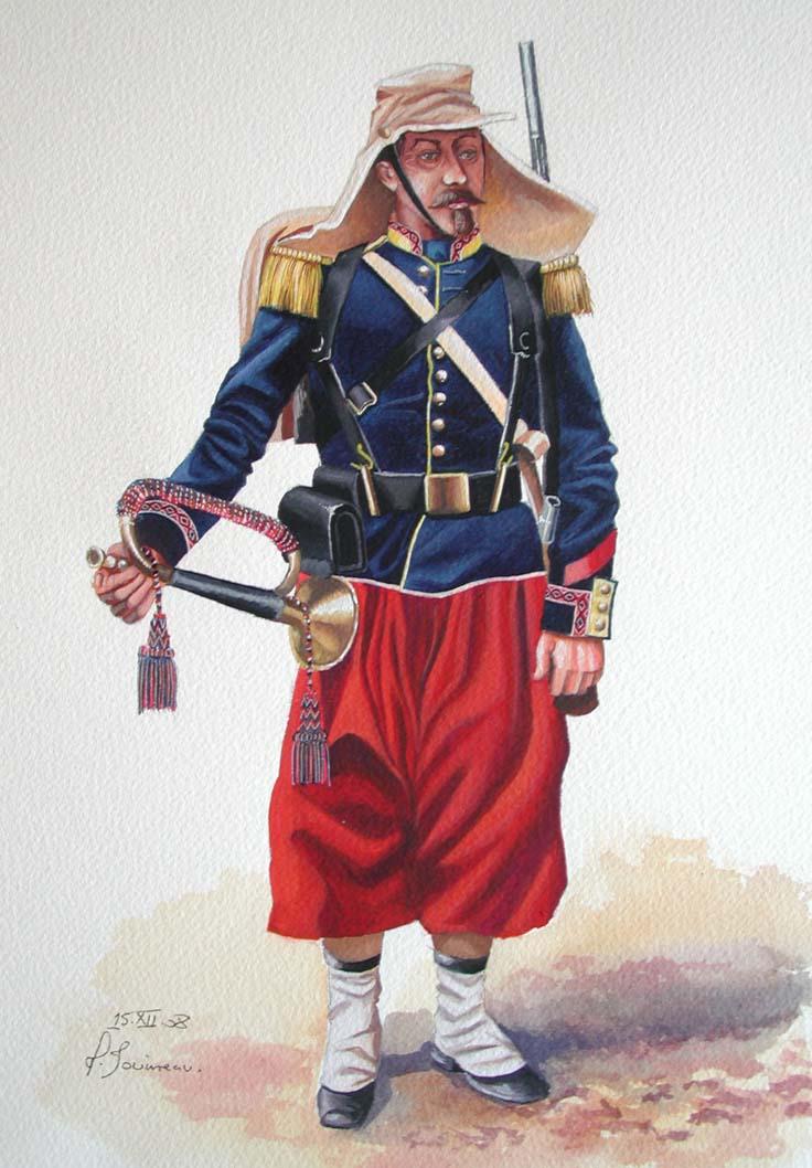 Clairon d'infanterie vers 1863 Infant16