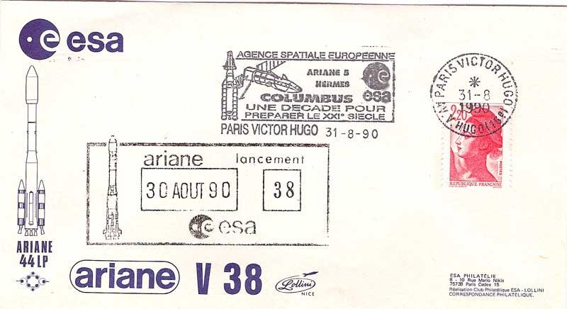 FDC Tsiolkovski Ariane10