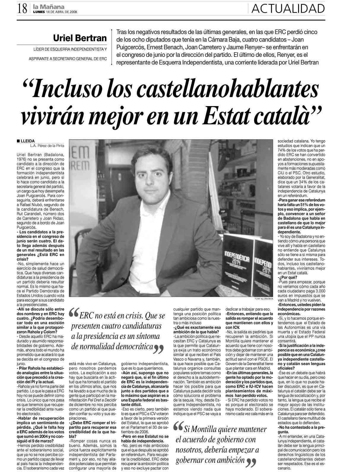 Els castellanoparlants viurien millor en un Estat Català Uriel11