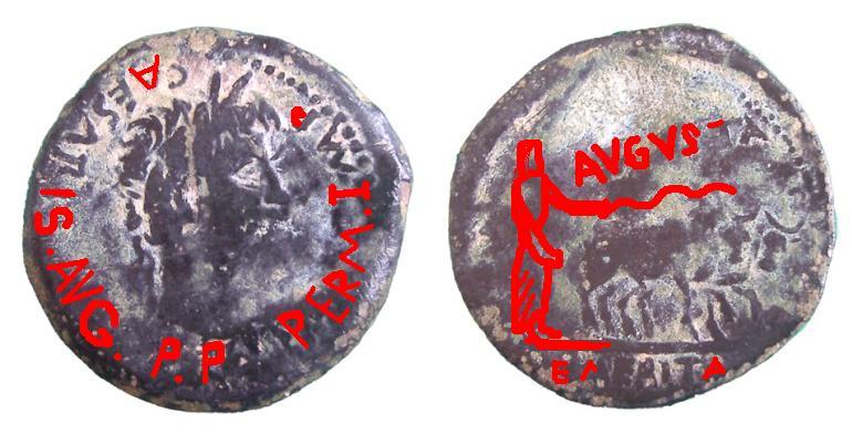 As de Emerita Augusta (Augusto, r: yunta de bueyes) P3160110