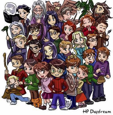 Harry Potter version manga (fanarts) Groupe10