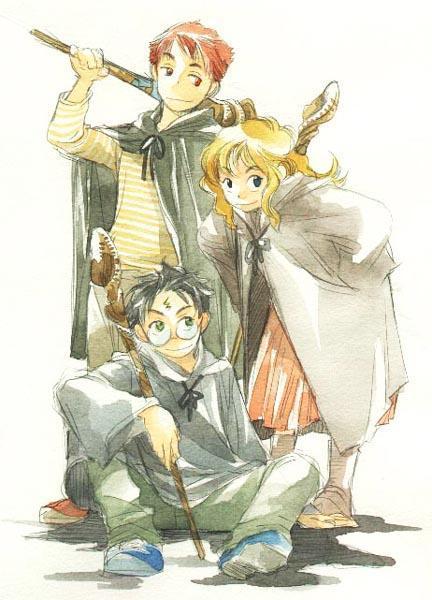 Harry Potter version manga (fanarts) Harry_14