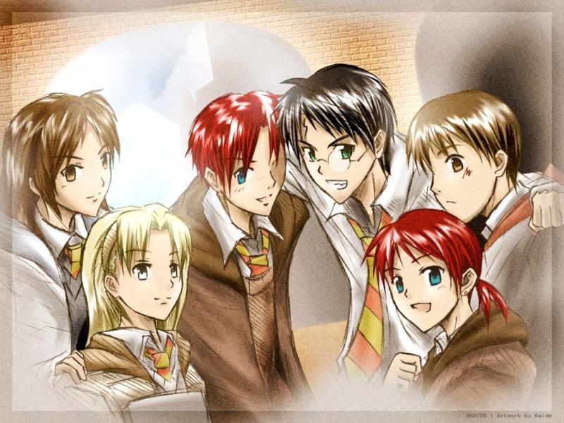 Harry Potter version manga (fanarts) Harry_15
