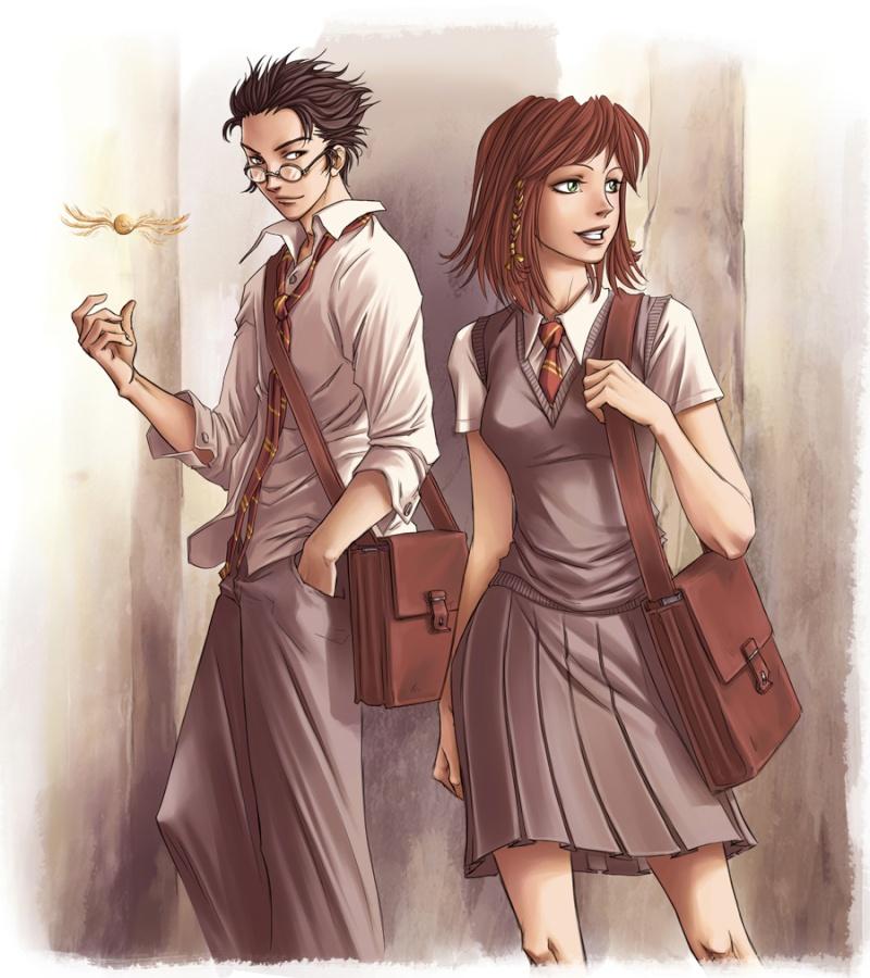 Harry Potter version manga (fanarts) James_10