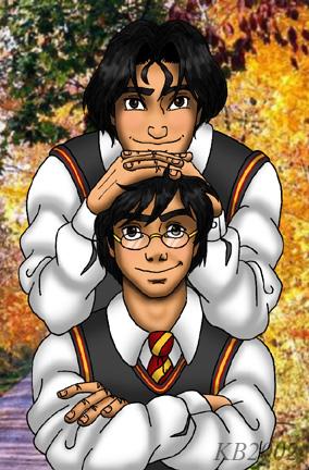 Harry Potter version manga (fanarts) James_12