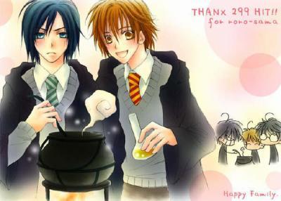 Harry Potter version manga (fanarts) Maraud10