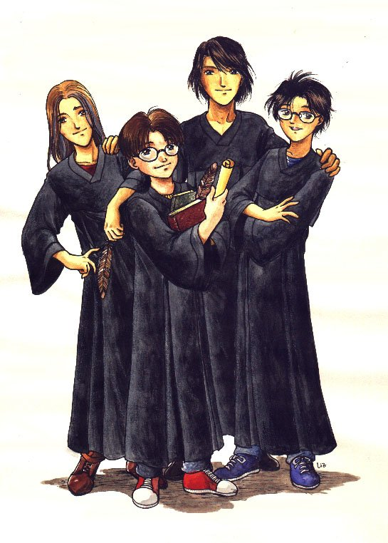 Harry Potter version manga (fanarts) Maraud12