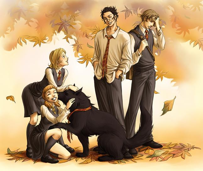 Harry Potter version manga (fanarts) Maraud15