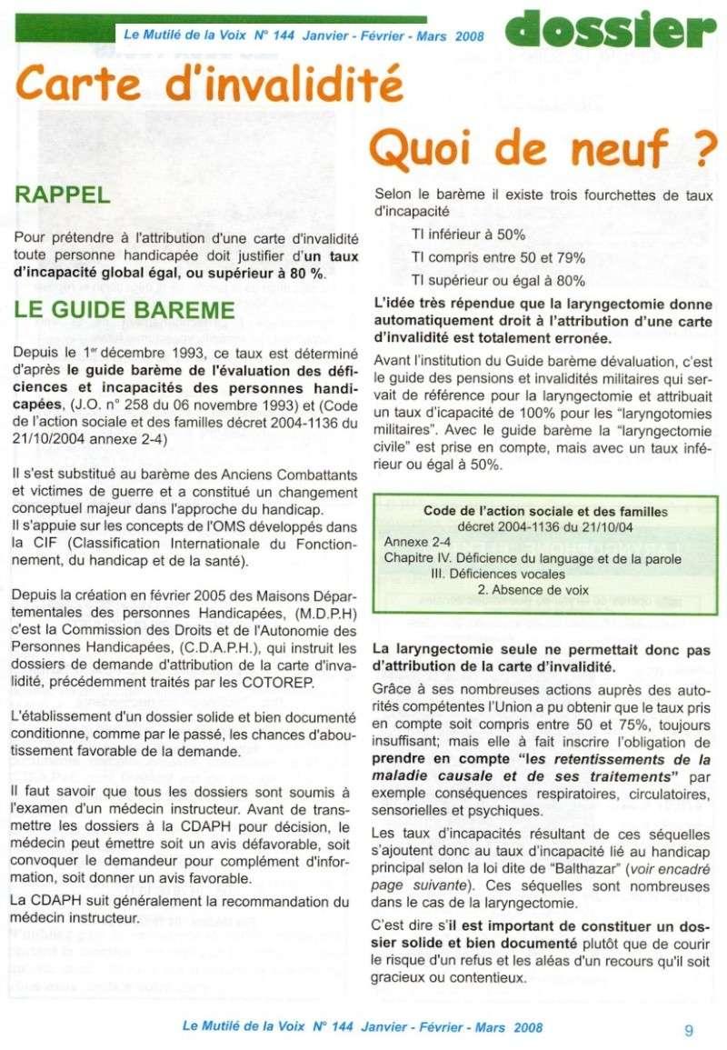 """""""Le Mutilé de la Voix"""" - Carte d'invalidité en France Handic10"""