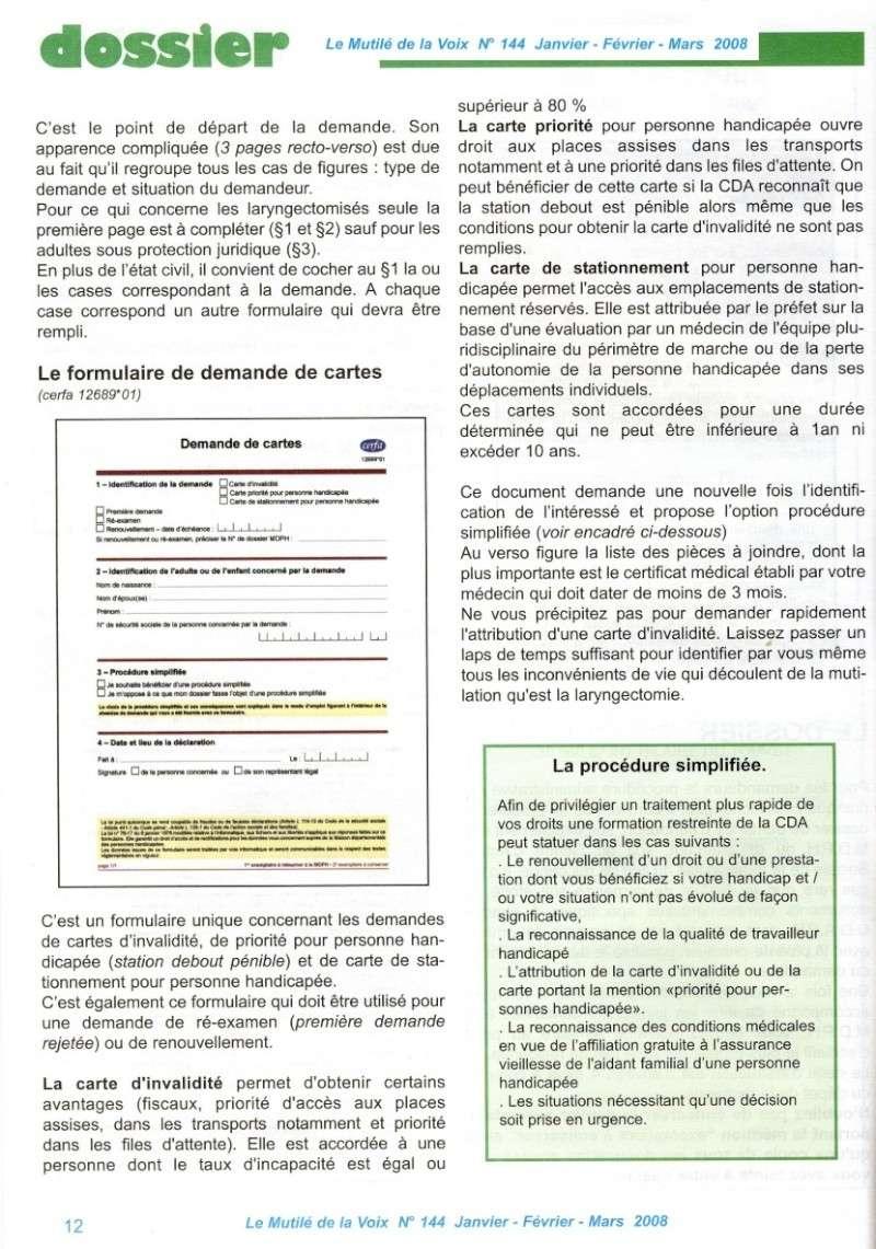 """""""Le Mutilé de la Voix"""" - Carte d'invalidité en France Handic13"""