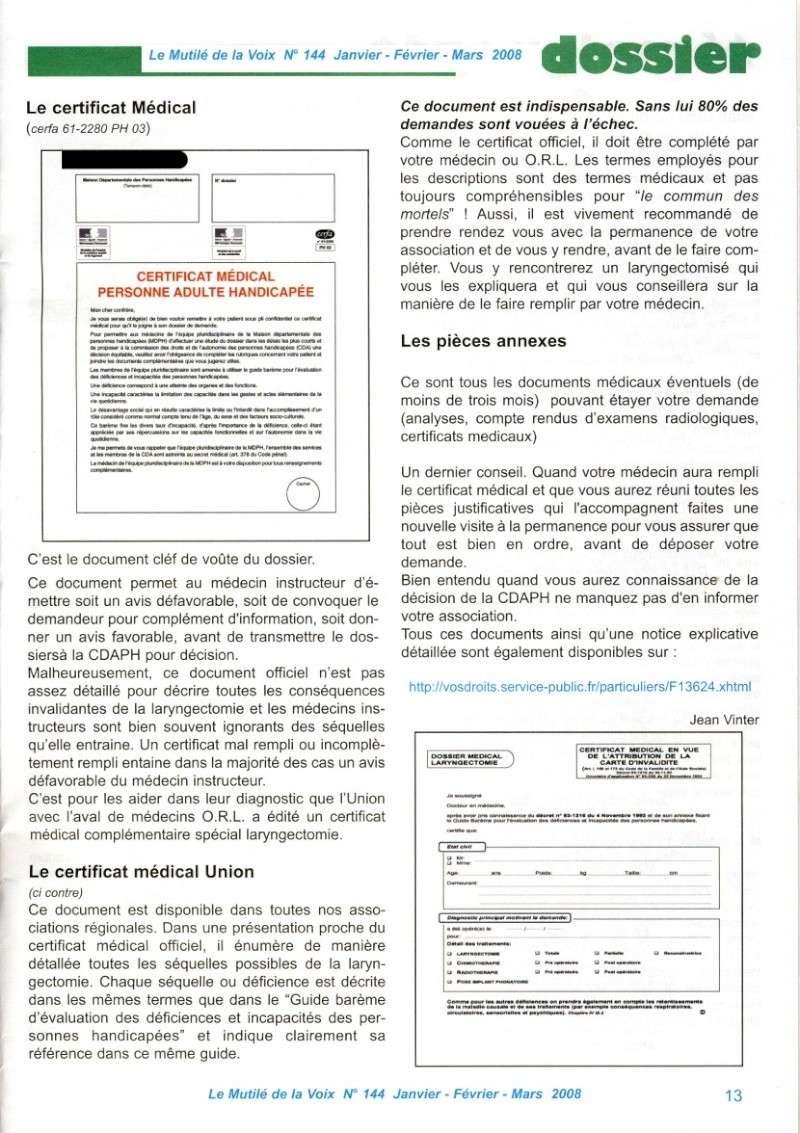 """""""Le Mutilé de la Voix"""" - Carte d'invalidité en France Handic14"""