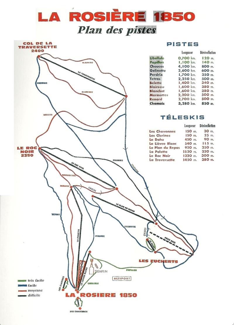 Historique du domaine skiable de La Rosière Piste110