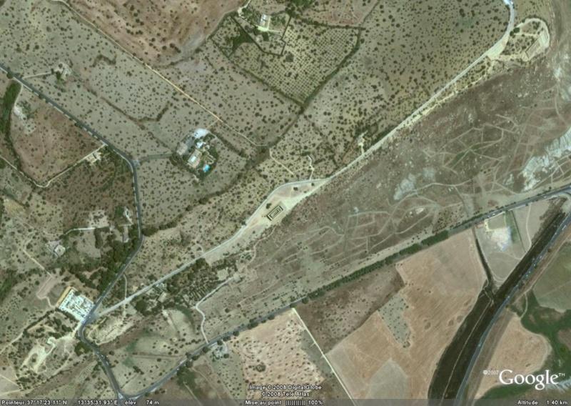 Antiquités romaines sous l'oeil de Google Earth Agrige10