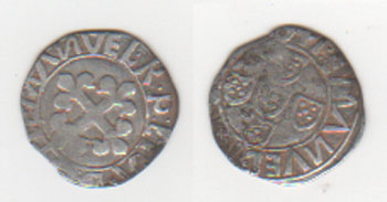 Portugal, 1/2 vintém de Manuel I, (1495-1521) Portug14