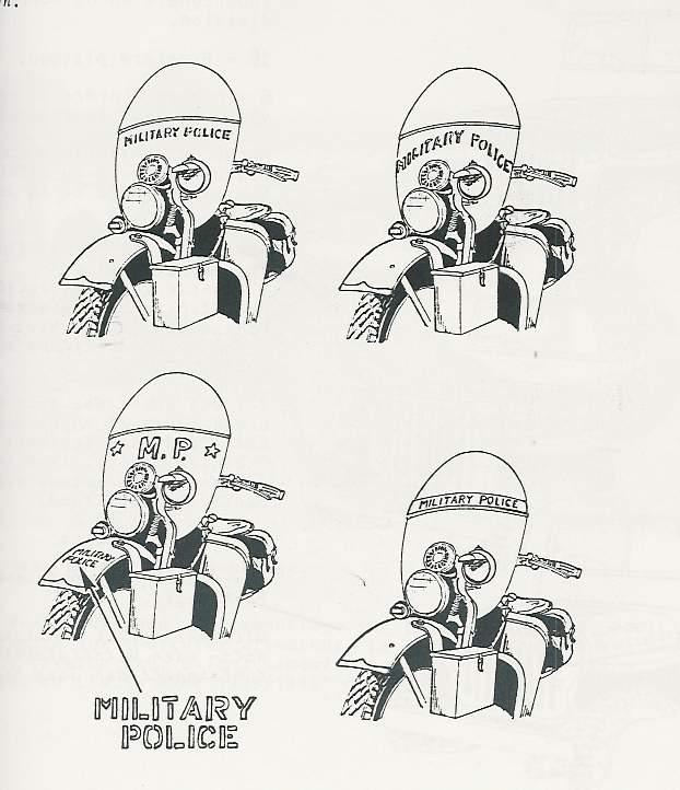 marquage Harley Davidson Military Police Image-10