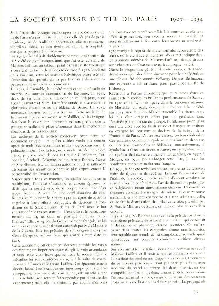 Société suisse de tir de Paris S110