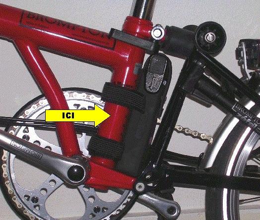 Gravure sur un Brompton [Bicycode ou numéro national] Gravag10
