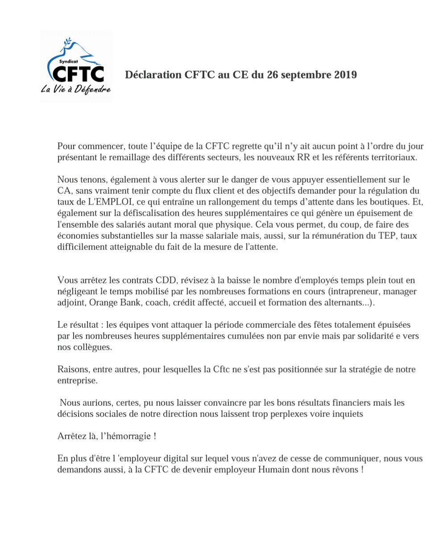 Déclaration CFTC au CE du 26 septembre 2019 Declar11