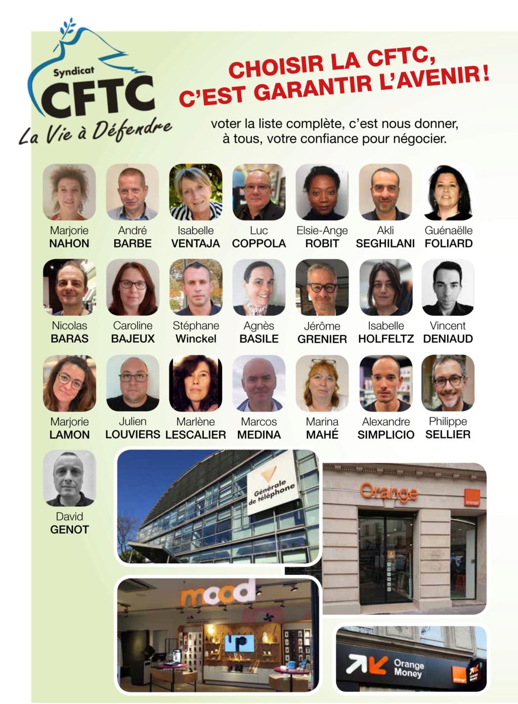 Elections CSE Générale de Téléphone,1er tour du 04 novembre (à partir de 10H00 ) au 12 novembre 2019 (jusqu'à 12H00). P410
