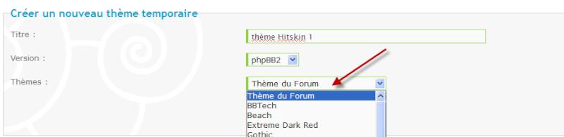installer un thème HITKINS dans thème temporaire Temp110