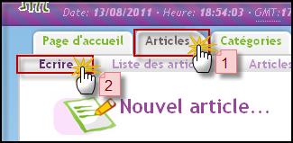Rédiger un article 13-08-10