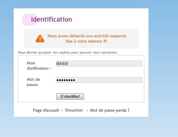 Problème avec l'adresse IP Untitl10